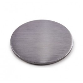 Platine ronde en inox brossé sans percements, différents diamètres