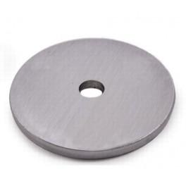 Platine ronde Ø100mm inox avec 1 trou central de 13mm