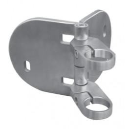 Support rond avec collier angle réglable fixation à l'anglaise de poteaux en tube