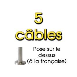 Garde-corps en Inox 5 câbles